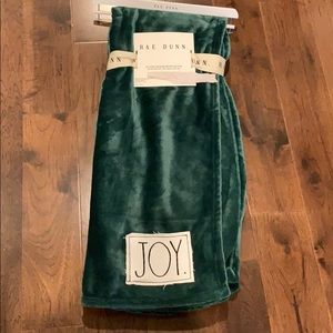 Rae Dunn plush throw joy brand new